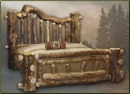 52 best log beds images on pinterest bed frames furniture ideas