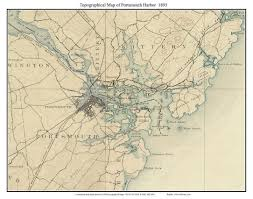 Map Of New York Harbor by Portsmouth Harbor 1895 Topographic Map Usgs Custom Composite