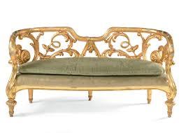 divanetti antichi coppia di divanetti in legno dorato e laccato xix xx secolo