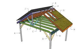 picnic shelter roof plans howtospecialist how to build step