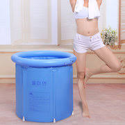 Collapsible Bathtub For Adults Folding Bathtub Portable Plastic Tub Foldable Water Place Room Spa