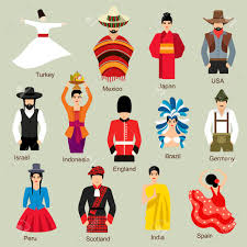 traditional costume clipart pencil and in color