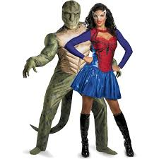 spider u0026 lizard couples costume superhero couples costumes