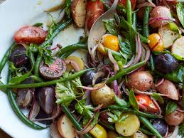 cuisine haricots verts tomato haricots verts and potato salad recipe enzo colaiacomo