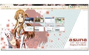 theme google chrome sword art online asuna knights of the blood chrome web store