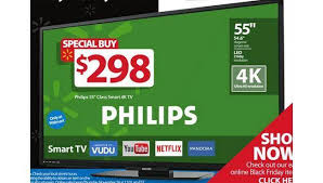 uhd tv black friday 55 inch philips 55pfl5601 f7 4k ultra hd smart tv walmart black