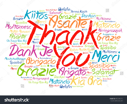thank you word cloud background all stock vector 453246775