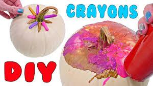 how to decorate a halloween pumpkin with crayons fun fall diy