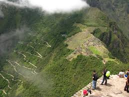 Death Stairs the road that leads up to machu picchu pics