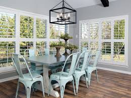 Lighting Over Dining Room Table by Exquisite Image Of Dining Room Decoration Using Light Blue Metal