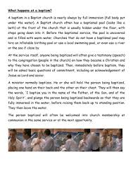 believer u0027s baptism by warbull teaching resources tes