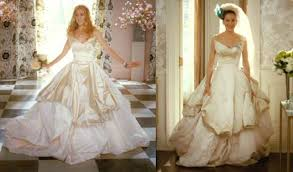 vivienne westwood wedding dresses and the city carrie bradshaw wedding dress from vogue photo shoot
