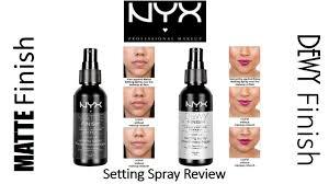rapid review nyx matte finish u0026 dewy finish makeup setting sprays