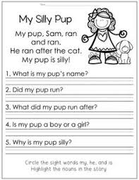 short vowel reading passages all in one reading comprehension