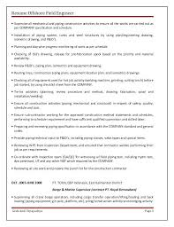resume format exles for steel fabrication oilfield resume sles resume exles for oil field job exles