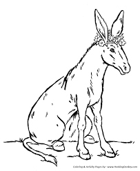 farm animals coloring page farm animal coloring pages donkey with flowers coloring page and