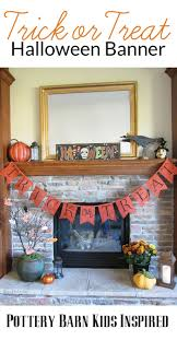 pb kids inspired trick or treat halloween banner diy bren did