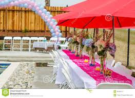 Baby Shower Table Decoration by Baby Shower Table Decorations Stock Photo Image 40356117