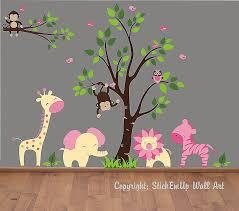 Nursery Monkey Wall Decals Kinderzimmer Wandtattoos Kinderzimmer Dschungel New Baby Wall