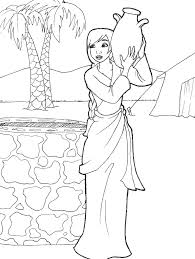 biblical coloring pages for toddlers rebekah drawing water genesis 24 by likesototally coloring