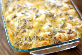 sausage egg u0026 cheese biscuit casserole the country cook