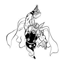 Thor 10 Superhéros  Coloriages à imprimer