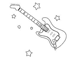 guitar coloring exprimartdesign