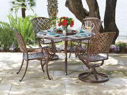 Aluminum Dining Room Chairs Woodard Casa Cast Aluminum Dining Set Casadinset5