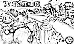 plants zombies coloring pages bebo pandco