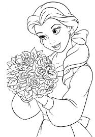 coloring pages graceful belle coloring pages pretty disney