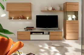 TV Stand Furniture With Wooden Wall Unit By Hulsta Home Design - Home tv stand furniture designs