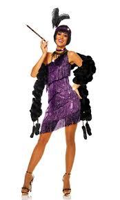 halloween 1920s costumes women u0027s purple fringed flapper costume women u0027s 1920 u0027s costume