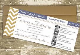 Boarding Pass Wedding Invitation Card Destination Wedding Invitation Boarding Pass Wedding
