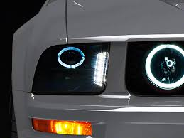 halo light installation near me raxiom mustang smoked projector headlights led halo 49128 05 09