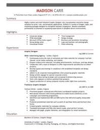 Graphic And Web Designer Resume Graphic Designer Cv Example For It Livecareer