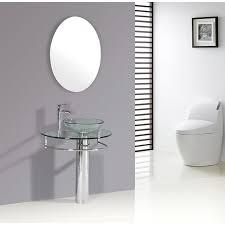 Pedestal Bathroom Vanities Kokols Clear Vessel Sink Pedestal Bathroom Vanity Free Shipping