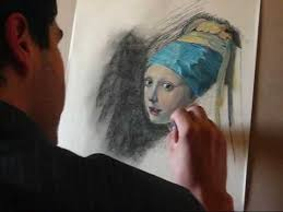 painting the girl with the pearl earring painting girl with a pearl earring tribute to jan vermeer