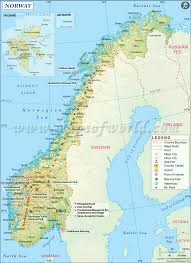 Highly Detailed River Map Of by Facts About Norway Norway Facts