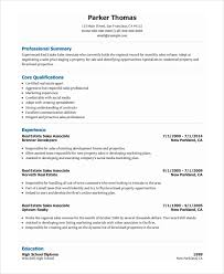 Resume Sample For Real Estate Agent by Sales Associate Resume Template 8 Free Word Pdf Document
