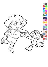 dora coloring pages nick jr youtube