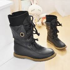 fashion motorcycle boots fashion vintage lace up women motorcycle snow boots