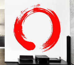 backsplash wall decals circle wall decals etsy decal zen enso buddhism meditation