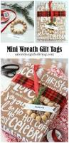 mini wreath gift tags u0026 more christmas wrapping ideas satori