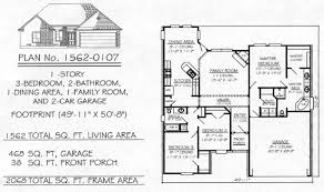 2 floor plans with garage 1700 sq 3 bedroom house plans