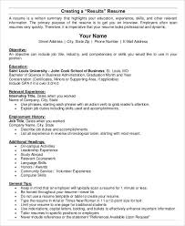 Scan Resume Basic Business Resume Templates 24 Free Word Pdf Documents
