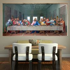 large famous print canvas painting the last supper leonardo da vinci wall pictures for living room kitchen room unframed in painting calligraphy from home