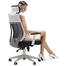 white office chair mesh hbada ergonomic office chair high back computer chair white desk
