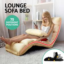 Chaise Longue Sofa Beds Lounge Sofa Bed Floor Recliner Folding Chaise Chair Adjustable