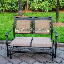 Garden Loveseat Cast Aluminum Garden Rocking Loveseat Glider Bench With Sling