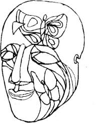 an art painting mask for mardi gras coloring page download